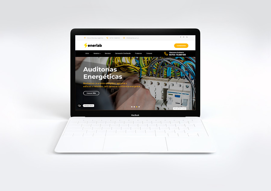 Website – Landing Page – Enerlab