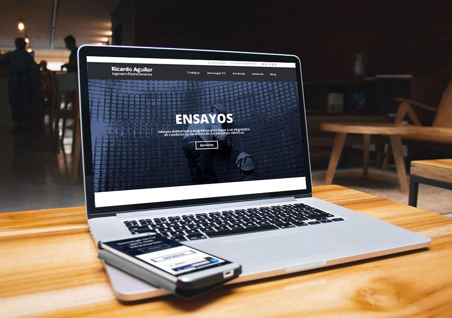 Website – Landing Page CV – Ricardo Aguilar